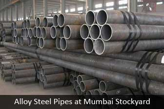 Alloy Steel pipe at mumbai stockyard