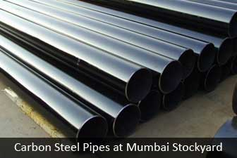 Carbon steel pipe at mumbai stockyard