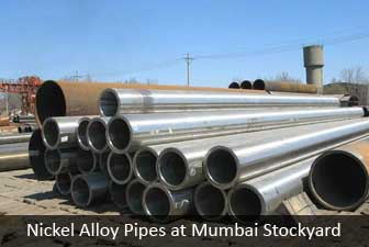 Nickel Alloy pipes at mumbai stockyard