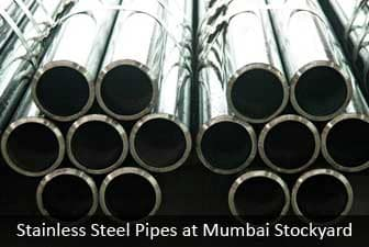 Stainless Steel pipes at mumbai stockyard